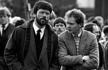 Gerry Adams y Martin McGuinness, en una foto de 1987.
