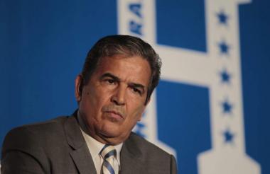 El técnico colombiano Jorge Luis Pinto, actual entrenador de Honduras.