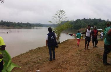 Un funcionario de la Defensoría del Pueblo en Docordó, Chocó.