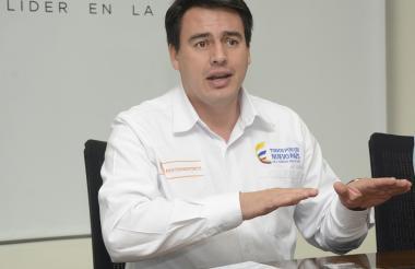 Ministro de Transporte Jorge Rojas.
