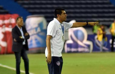 Fernel Díaz, técnico encargado del Junior en el juego ante Millonarios.