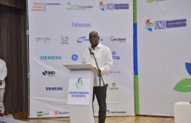 Luis Gilberto Murillo, ministro de Medio Ambiente, durante su participación en el Congreso Internacional.