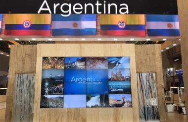 Stan de Argentina en la Vitrina Turística de Anato realizada recientemente en Bogotá.