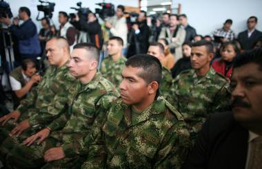 Algunos de los militares procesados por ejecuciones extrajudiciales.