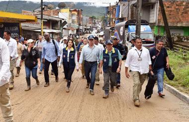 El presidente Juan M. Santos estuvo ayer en Mocoa.