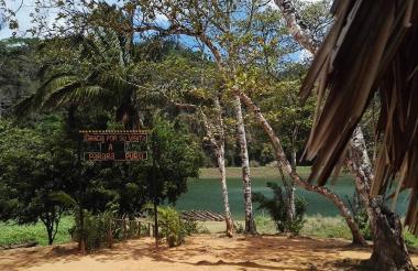 Una de las aldeas de los Embera que habitan en el parque Chagres
