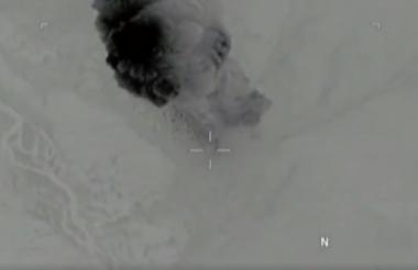 Las imágenes fueron difundidas por el Pentágono.