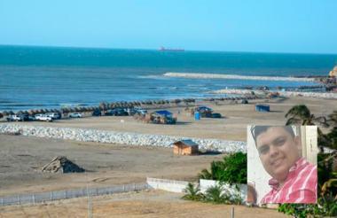 Playa de Salgar, donde ocurrieron los hechos. José Rafael Gómez Montes.