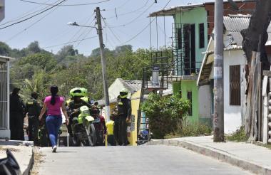En este sector del barrio El Bosque fue asesinado David Enrique Carrillo Gómez.