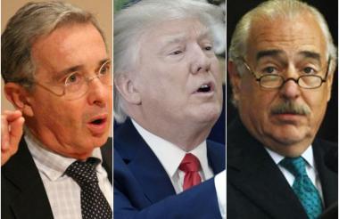 Álvaro Uribe, Donald Trump y Andrés Pastrana.
