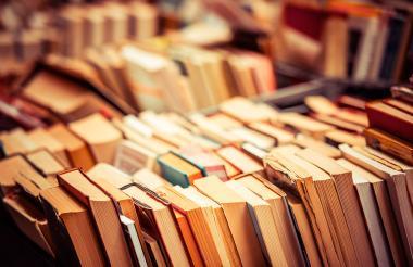 Libros de segunda exhibidos en una librería.