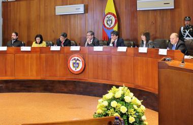 Magistrados actuales del máximo tribunal de lo constitucional en Sesión Plena.