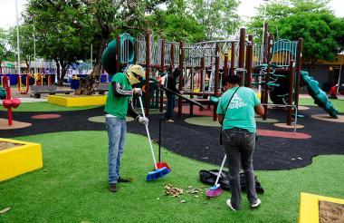 Parte de los recursos del impuesto es destinado para mantenimiento de parques.