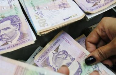 Billetes de 50.000 pesos, los de mayor denominación en Colombia.
