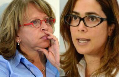 Cecilia Álvarez-Correa y Gina Parody.