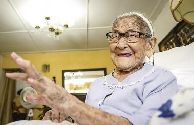 Con 113 años, María Teresa Rico Martínez, es oriunda del municipio el Carmen de Bolívar. Es una de las mujeres más longevas del mundo.