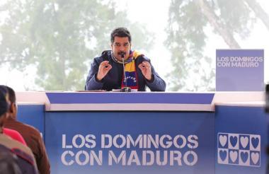 El presidente NIcolás Maduro durante este domingo en la emisión de su programa.