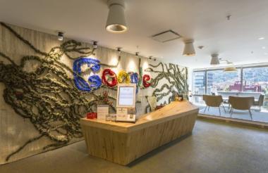 Las oficinas de Google ubicadas en Bogotá.