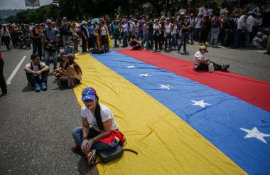 Oposición venezolana durante el pasado 'plantón'