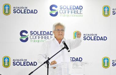 El alcalde de Soledad, Joao Herrera.
