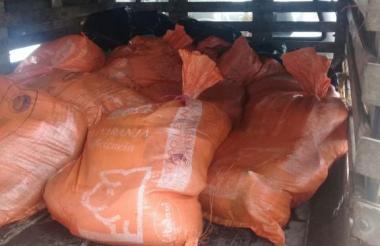 Carne incautada por la Policía Metropolitana de Cartagena-