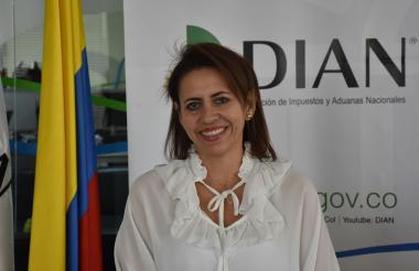 Nancy Holguín, directora de la seccional de impuestos de Barranquilla de la Dian.
