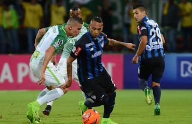 Jarlan en acción en la derrota 2-1 ante Nacional.