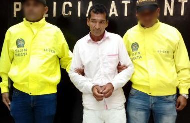 Julio Antonio Maldonado De las Salas, capturado por la Policía del Atlántico.