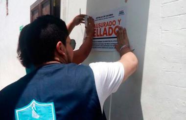 Operativos en el Centro Histórico de Santa Marta.
