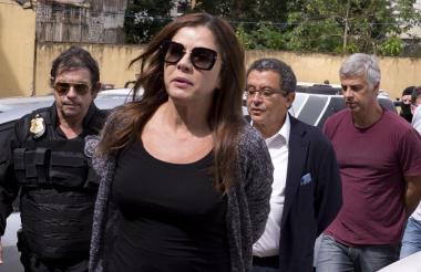 Los publicistas brasileños Mónica Moura y João Santana (segundo), en una foto de archivo del 23 de febrero de 2016.
