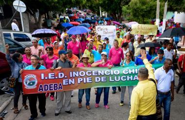 Maestros de Barranquilla harán plantón en la Alcaldía el próximo martes.