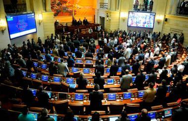 Panorama de la sesión conjunta del Congreso el pasado 29 de abril.