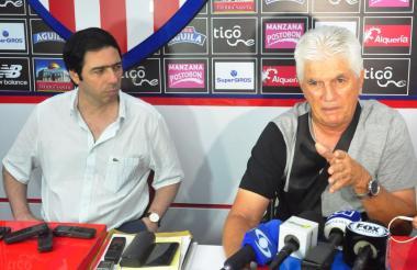 Antonio Char y Julio Comesaña este lunes.