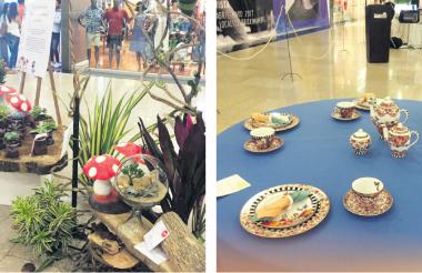 Plantas ornamentales, arreglos florales y artísticos terrarios hacen parte de la XLI pequeña exposición estándar de flores que organizó el Club de Jardinería de Barranquilla para que el público aprecie los trabajos de las damas de esa asociación. En la muestra también se pueden apreciar la forma como debe ser dispuesta una mesa, con su respectivo adorno floral.