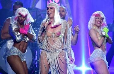 Cher en los permios Billboard 2017.