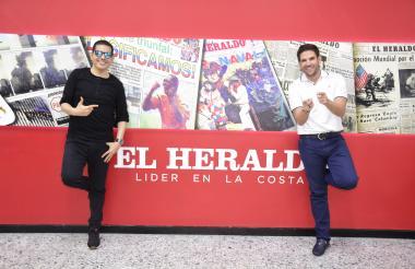 Peter Manjarrés y Juancho De la Espriella en EL HERALDO.