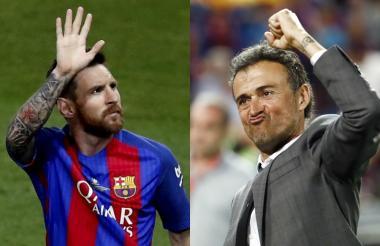 Messi y el técnico Luis Enrique