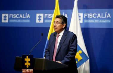 El fiscal general de la Nación, Néstor Humberto Martínez, en declaraciones este miércoles.