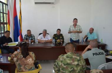 Aspecto del consejo de seguridad desarrollado en Aracataca.