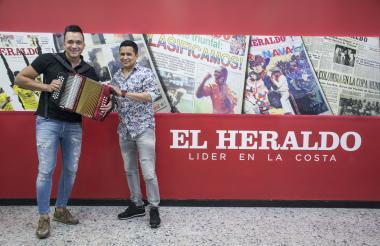 Sergio Luis Rodríguez y Jorge Celedón en EL HERALDO.