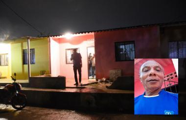 Aspecto de la fachada de la casa en la que fue asesinado Bernardo Cuero Bravo.