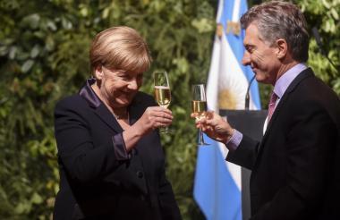 Ángela Merkel y Mauricio Macri.