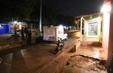 Sitio donde ocurrió el asesinato del líder social la noche del miércoles.