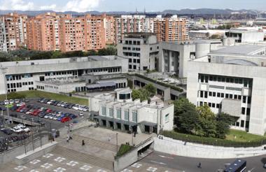 Búnker de la Fiscalía, en Bogotá.