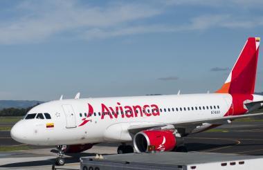 Avión de la aerolínea Avianca.