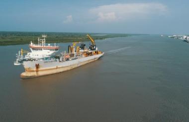 Canal de acceso al Puerto de Barranquilla.