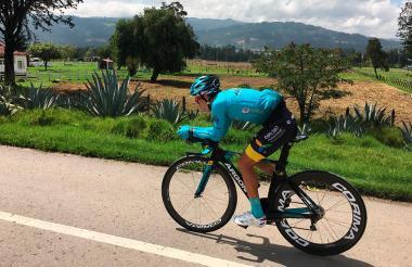 El ciclista Miguel Ángel López.