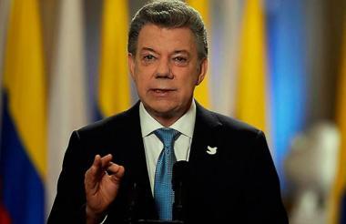 Presidente Juan Manuel Santos Calderón.