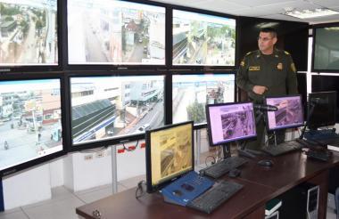 En julio de 2016 cuando EL HERALDO estuvo en el CDA en el Comando de Policía Sucre, funcionaban más cámaras que ahora.