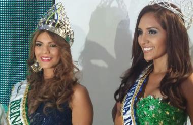 La reina nacional Sandra Lucía Bohórquez y la reina internacional, Génesis Quintero Pérez.